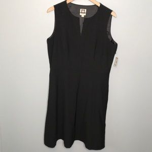 Anne Klein black sleeveless suit seperate dress 12